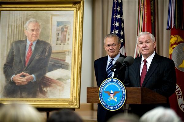 Rumsfeld praised